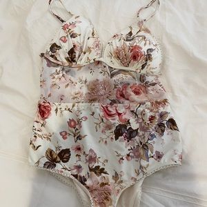 Zimmermann bathing suit with mesh panel